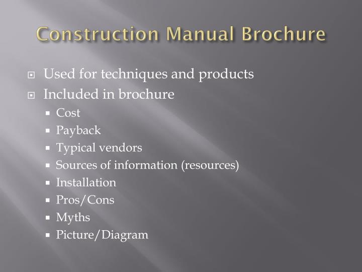 Construction Manual Brochure