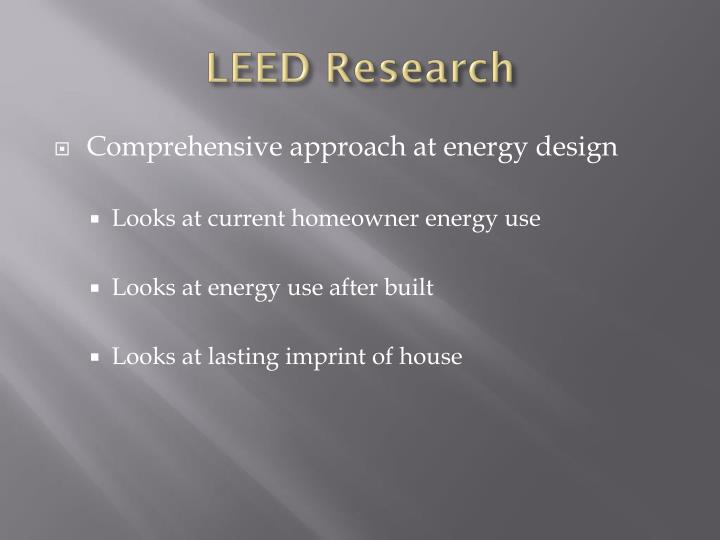 LEED Research