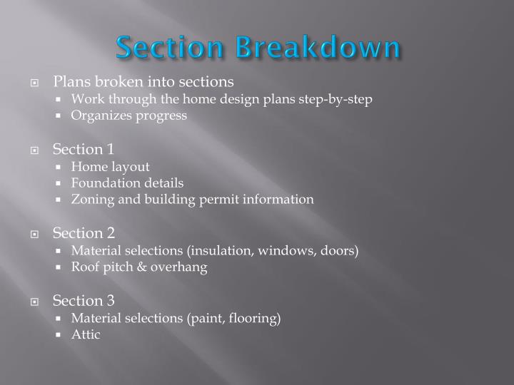 Section Breakdown
