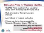 tricare prime for medicare eligibles