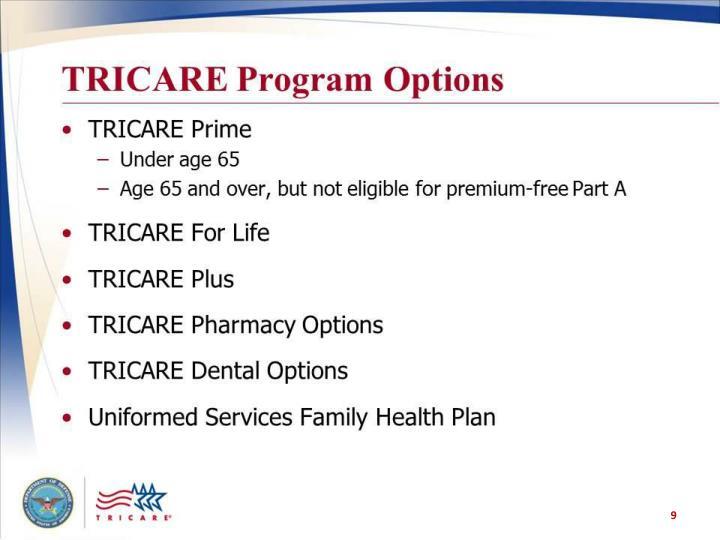 TRICARE Program Options