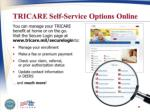 tricare self service options online