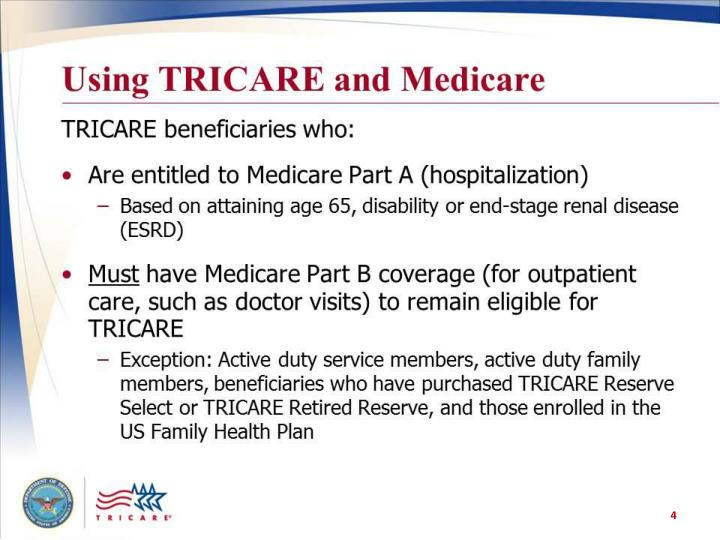 Using TRIARE and Medicare