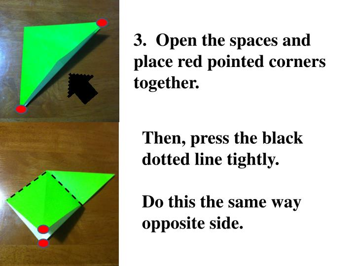 3.  Open the spaces