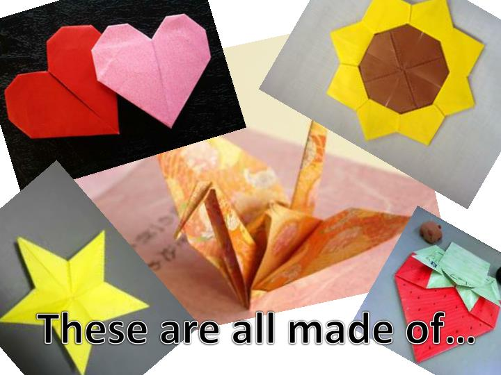 These are all made of…