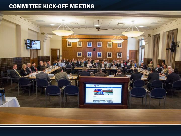 COMMITTEE KICK-OFF MEETING