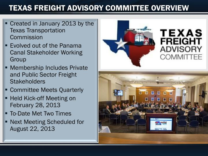 TEXAS FREIGHT ADVISORY