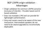 bgp l3vpn origin validation advantages