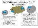 bgp l3vpn origin validation end ce to ce validation