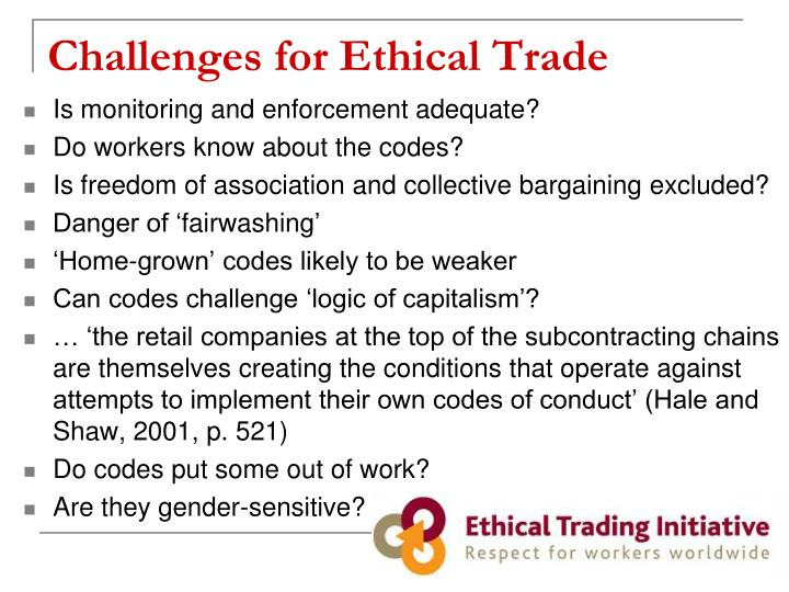 Challenges for Ethical Trade