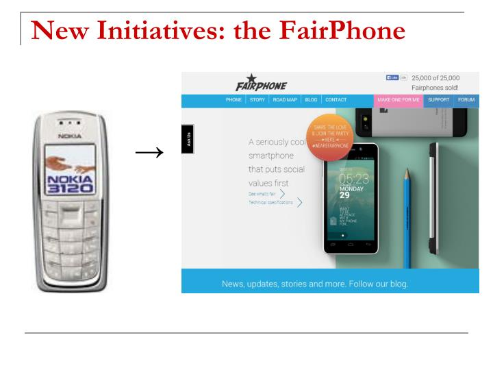 New Initiatives: the