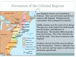 formation of the colonial regions