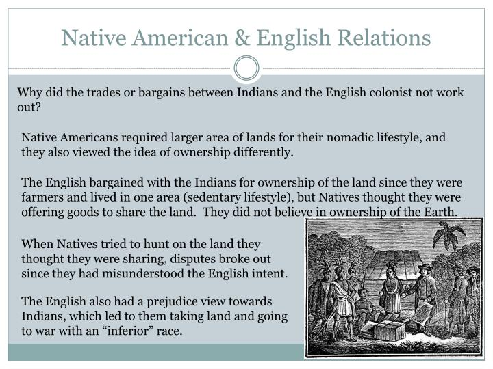 Native American & English Relations