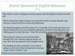native american english relations