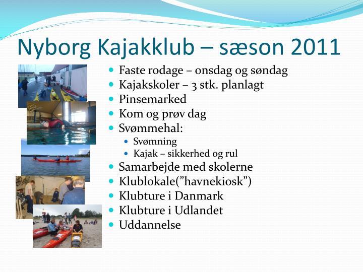 Nyborg Kajakklub – sæson 2011