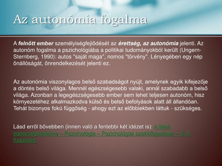 Az autonómia