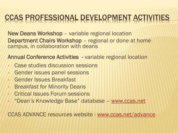 New Deans Workshop
