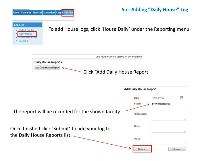 "5a - Adding ""Daily House"" Log"