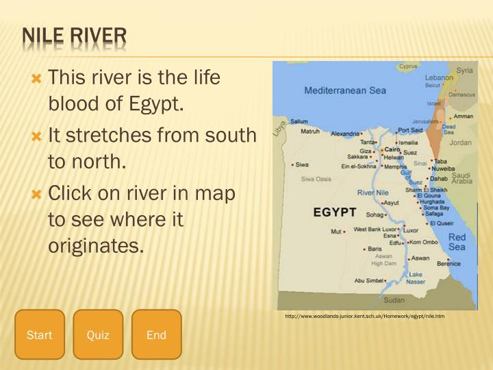 This river is the life blood of Egypt.