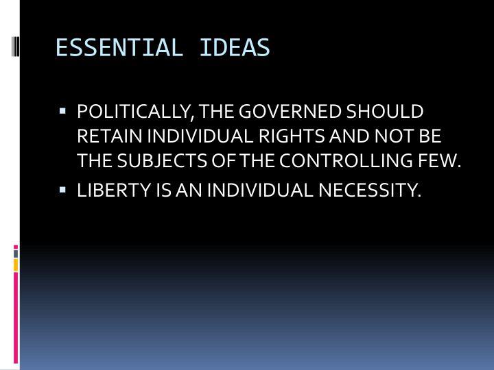 ESSENTIAL IDEAS