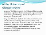 at the university of gloucestershire