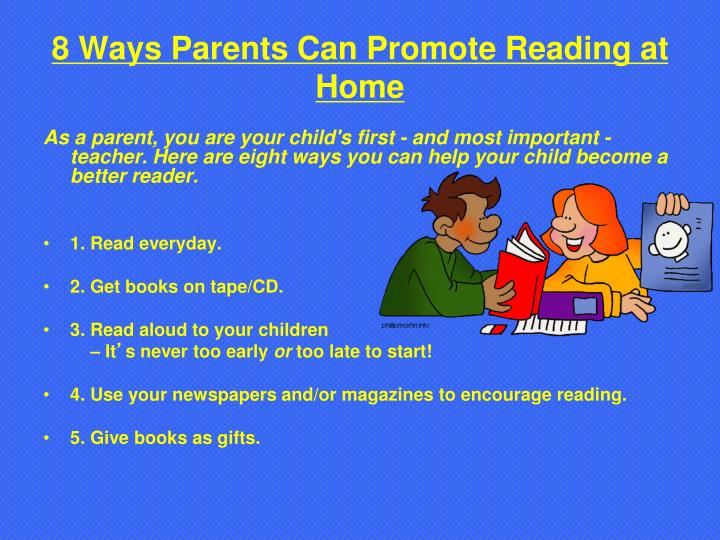 8 Ways Parents Can Promote Reading at Home