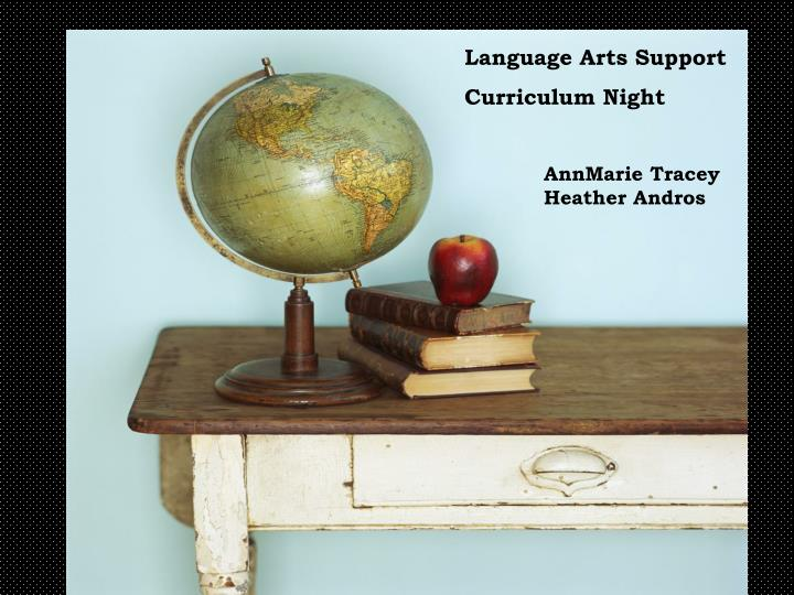 Language Arts Support