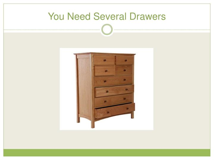 You Need Several Drawers