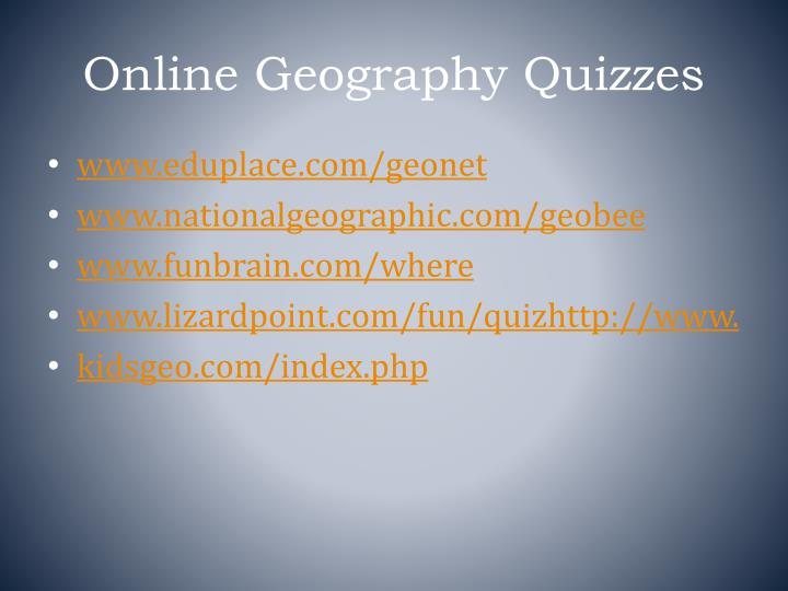 Online Geography Quizzes