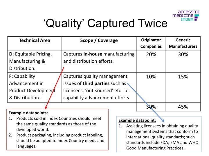'Quality' Captured Twice