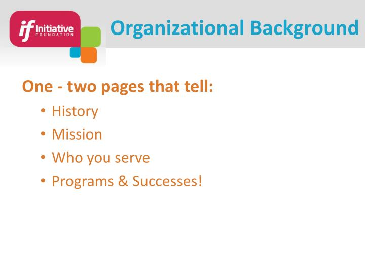 Organizational Background