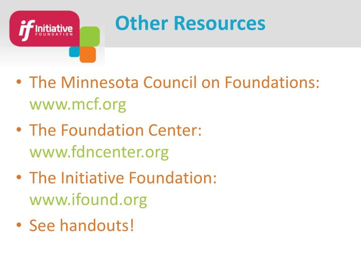 The Minnesota Council on Foundations: