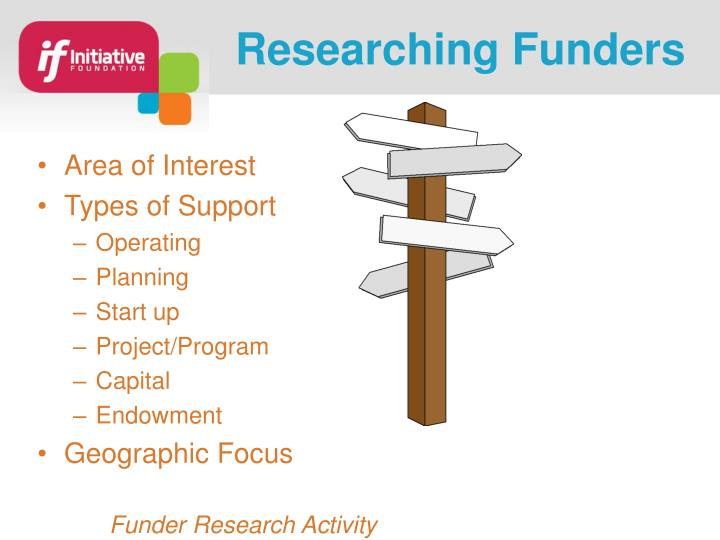 Researching Funders