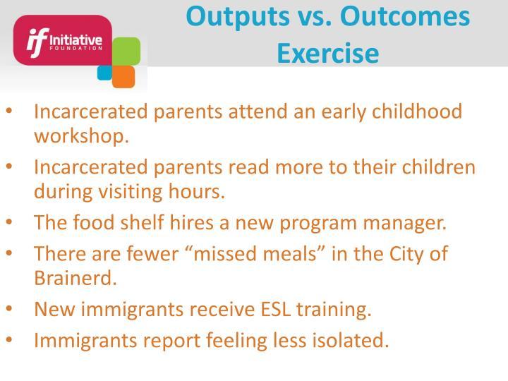 Outputs vs.