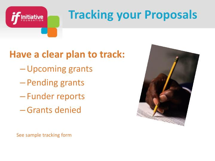 Tracking your Proposals