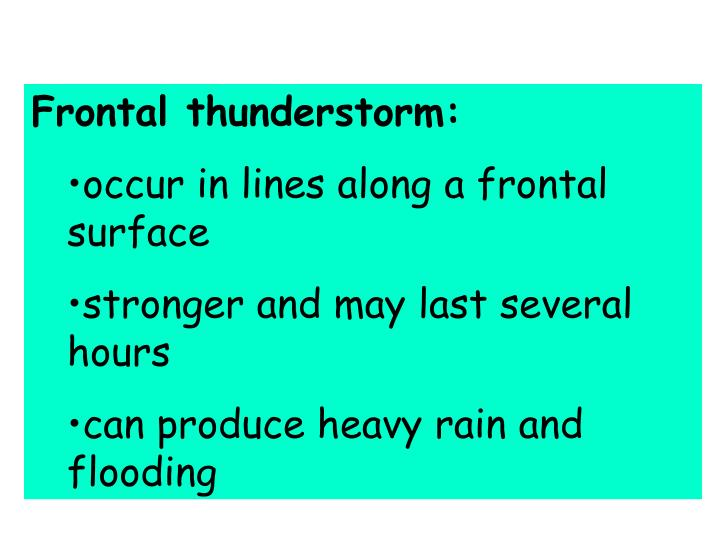 Frontal thunderstorm:
