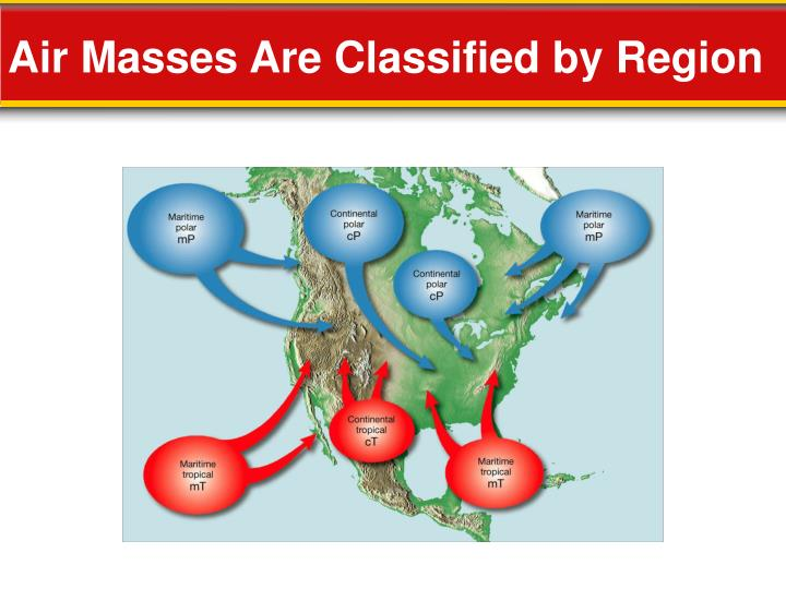 Air Masses Are Classified by Region