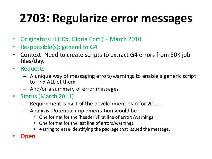 2703: Regularize error messages