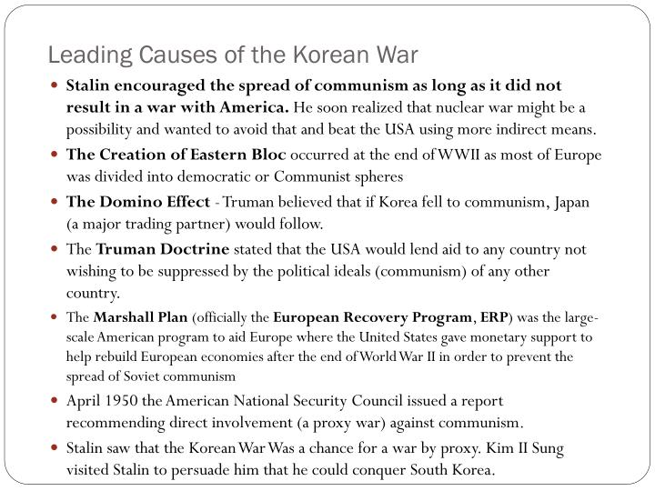Leading Causes of the Korean War