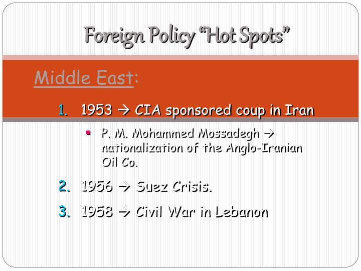 """Foreign Policy """"Hot Spots"""""""
