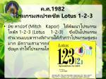 1982 lotus 1 2 3