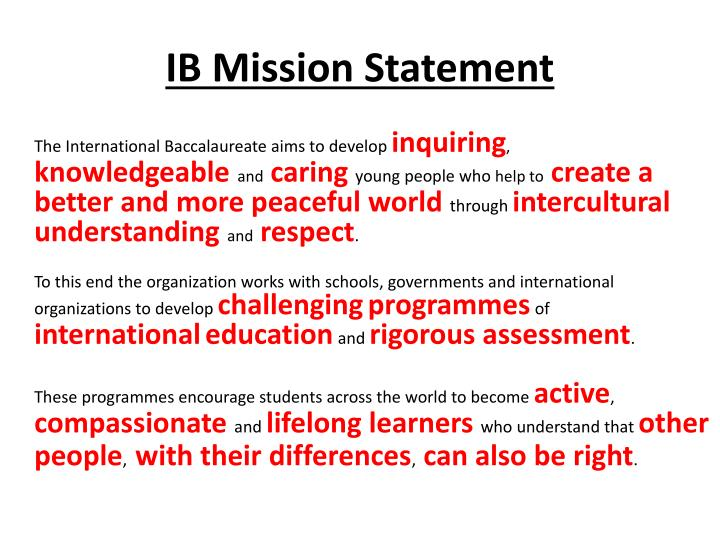 IB Mission Statement