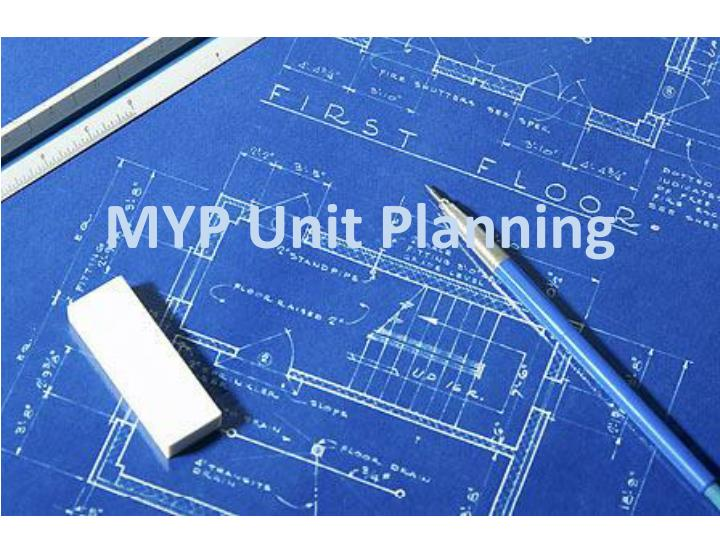 MYP Unit Planning