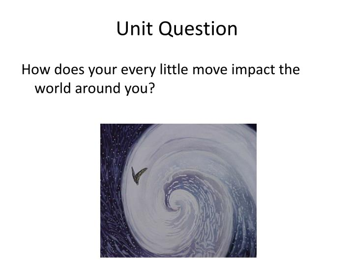 Unit Question