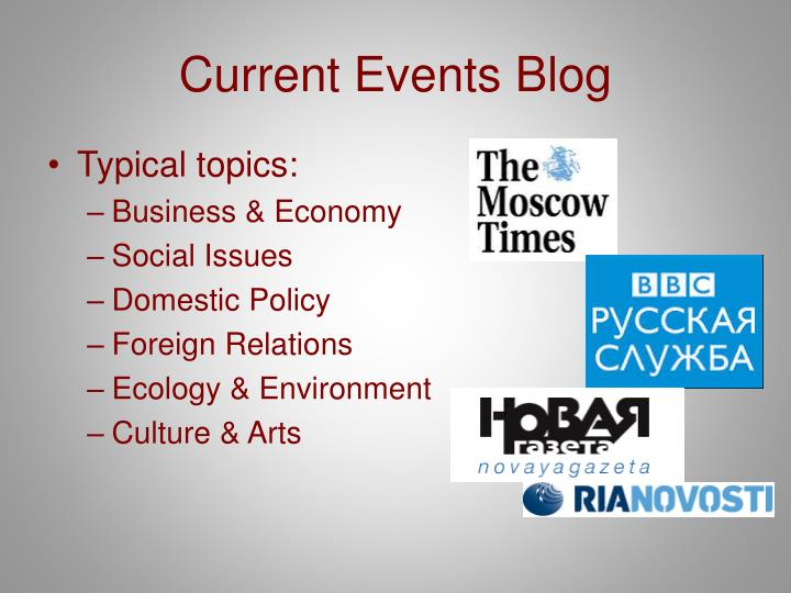 Current Events Blog