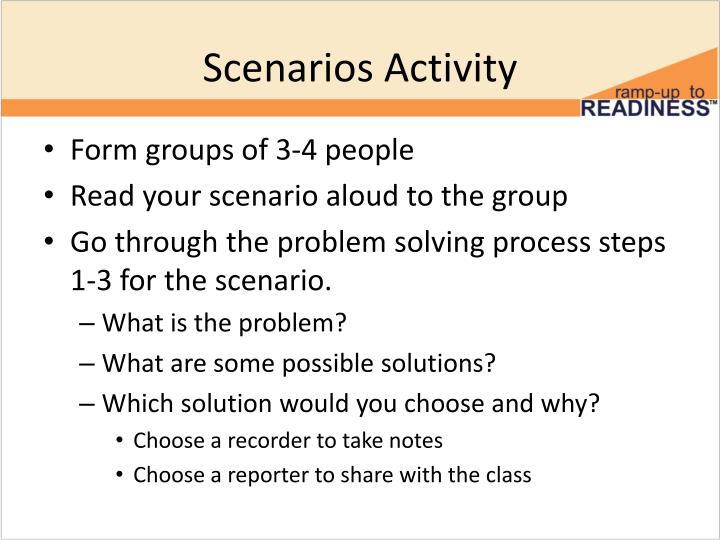 Scenarios Activity