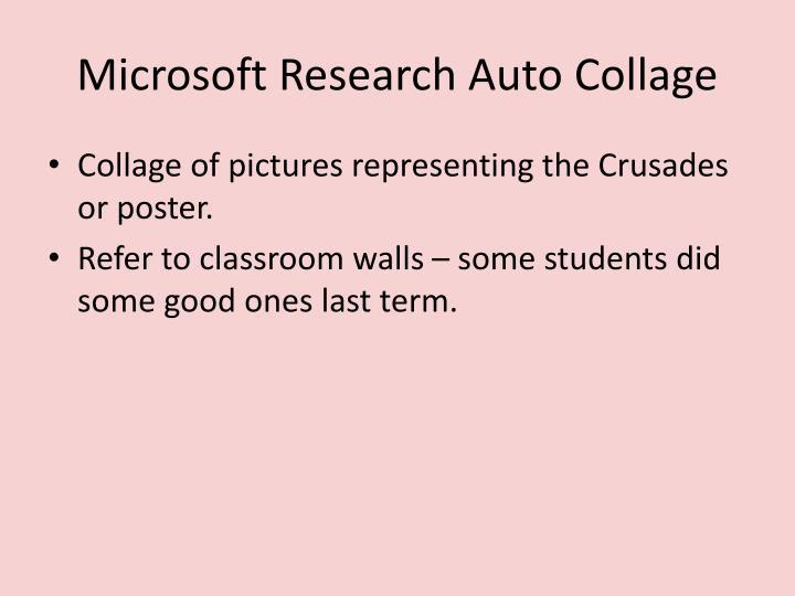 Microsoft Research Auto Collage