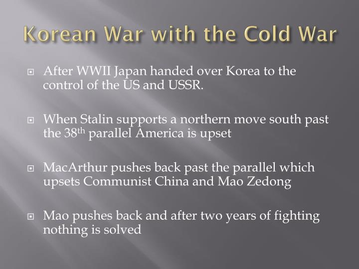 Korean War with the Cold War