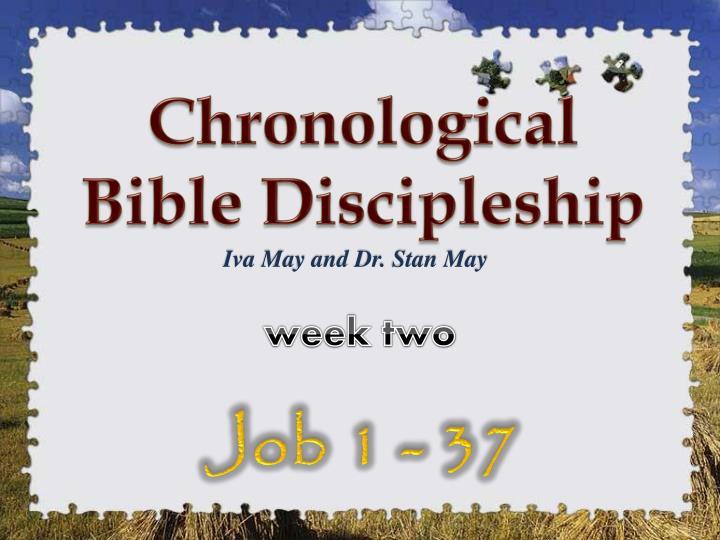Chronological Bible Discipleship