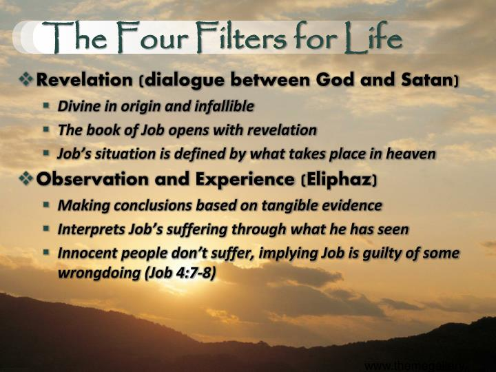 The Four Filters for Life